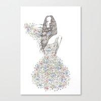 Flower Girl - Pattern Canvas Print