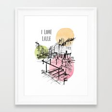 I love Lille Framed Art Print
