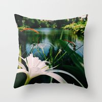 Tropical Lily Throw Pillow