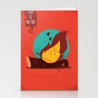 :::Love Is On The Fire::… Stationery Cards