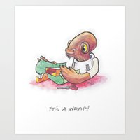 It's A Wrap! Art Print
