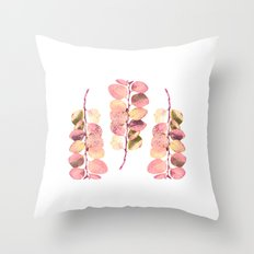 Leaf Trio Throw Pillow