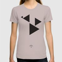 The Triangle Experiment Womens Fitted Tee Cinder SMALL