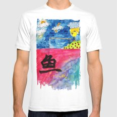 Sentiment Fishing SMALL White Mens Fitted Tee