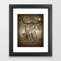 Playground Swing Framed Art Print