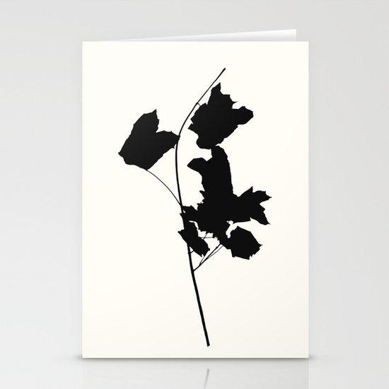 Maple Black Stationery Card