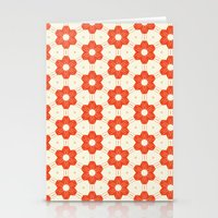 Retro Red Flower Stationery Cards