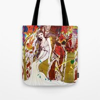 Fall Long Dresses  Tote Bag