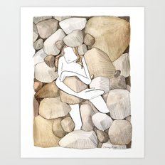 She Lived Underground Art Print