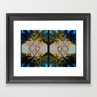 Overlapping Palms Framed Art Print