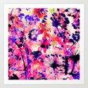 flowers and dandelions Art Print