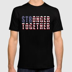 Stronger Together Black Mens Fitted Tee SMALL