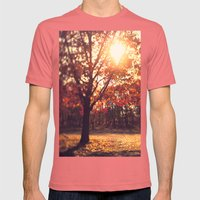 Autumn Sun  Mens Fitted Tee Pomegranate SMALL