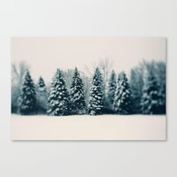 Canvas Print featuring Winter & Woods by Alicia Bock
