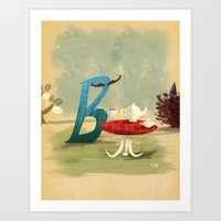 Time For Tea With Letter… Art Print