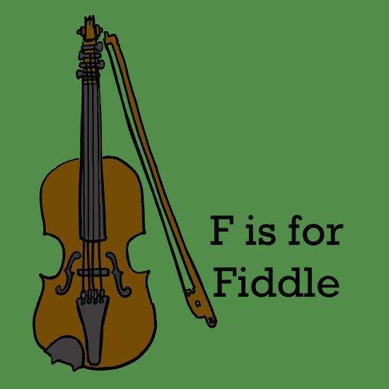 Fiddle, Typed Art Print
