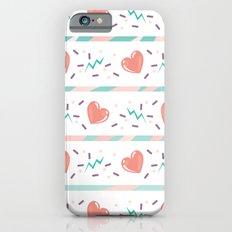 minty heart lightning iPhone 6s Slim Case
