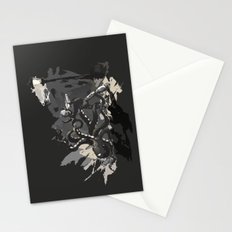Octopus Wrestling with a Robot Stationery Cards