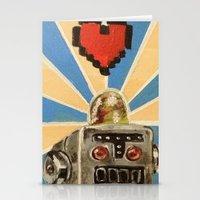 8 Bit Love Machine Stationery Cards