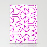 Van Zwaben Pink Neon Pat… Stationery Cards