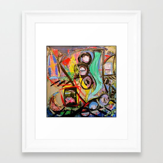 Viks Icks Ice Framed Art Print