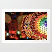 Mirrored Lamp Art Print