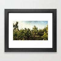 forêt d'épines Framed Art Print