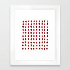 pomegranate seeds, organized neatly Framed Art Print