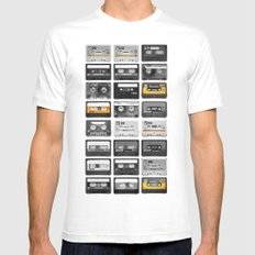 Retro Tapes Mens Fitted Tee White SMALL