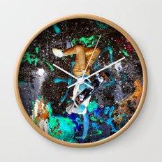 skateboard street Wall Clock