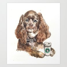 Chocolate Cocker Spaniel Art Print
