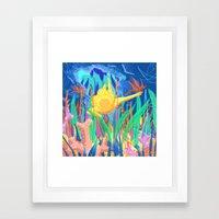 La Plongeuse Framed Art Print