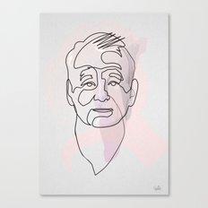 One line Bill Murray Canvas Print