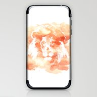 iPhone & iPod Skin featuring Lion Watercolor by Nicole Lianne