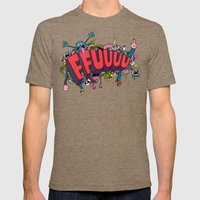 FFUUUU #2 Mens Fitted Tee Tri-Coffee SMALL