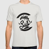Here Comes The Son Mens Fitted Tee Silver SMALL