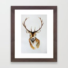 Buck - Watercolor Framed Art Print
