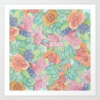 Southwestern Floral  Art Print