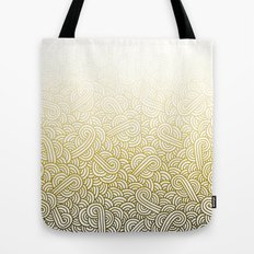 Gradient yellow and white swirls doodles Tote Bag