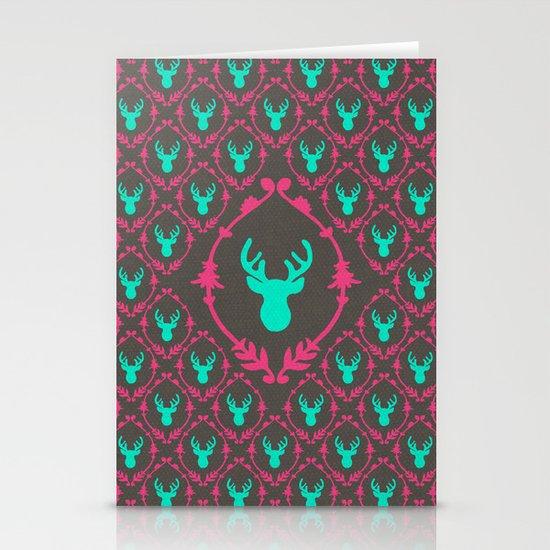 Oh Deer (teal dark) Stationery Card