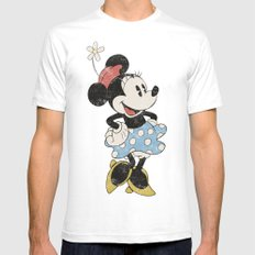 Minnie Mouse Mens Fitted Tee White SMALL