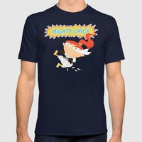 Mighty Chick Mens Fitted Tee Navy SMALL