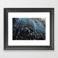 Mountain Drip Framed Art Print