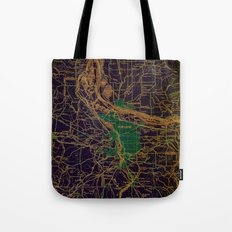 Portland old map, year 1948 Tote Bag