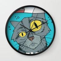 Great White Cat Wall Clock