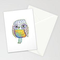colorful Owl, owl art, owl design, owl print,  Stationery Cards