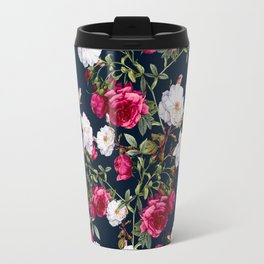 Travel Mug - Vintage Roses on Darkblue - VS Fashion Studio