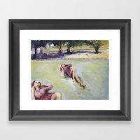 Agnes On The Lawn Framed Art Print