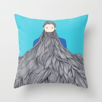 SuperBeard Throw Pillow