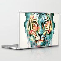 tiger Laptop & iPad Skins featuring TIGER by RIZA PEKER